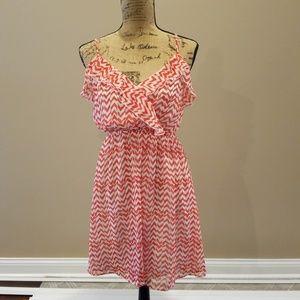 Ya Los Angeles orange white striped dress E308:4:6